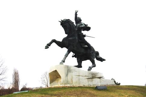 General Alexander Wassiljewitsch Suworow (1730-1800) zeichnete sich in verschiedenen Kampagnen des Russischen Reiches aus und gilt als Gründer der Stadt Tiraspol im Jahr 1792.