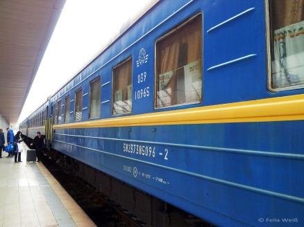 """Der """"Zug der Freundschaft"""" verkehrt als Nachtzug zwischen Bukarest und Chişinău. Holzfußboden, Teppiche und Blumen in den Abteils erinnern an vergangene Zeiten."""