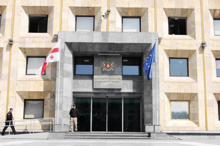 Das Regierungsgebäude Georgiens in der Hauptstadt Tbilisi.