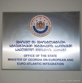 Dieses Ministerium ist für die Beziehungen zu westlichen Strukturen, wie EU und NATO, zuständig.